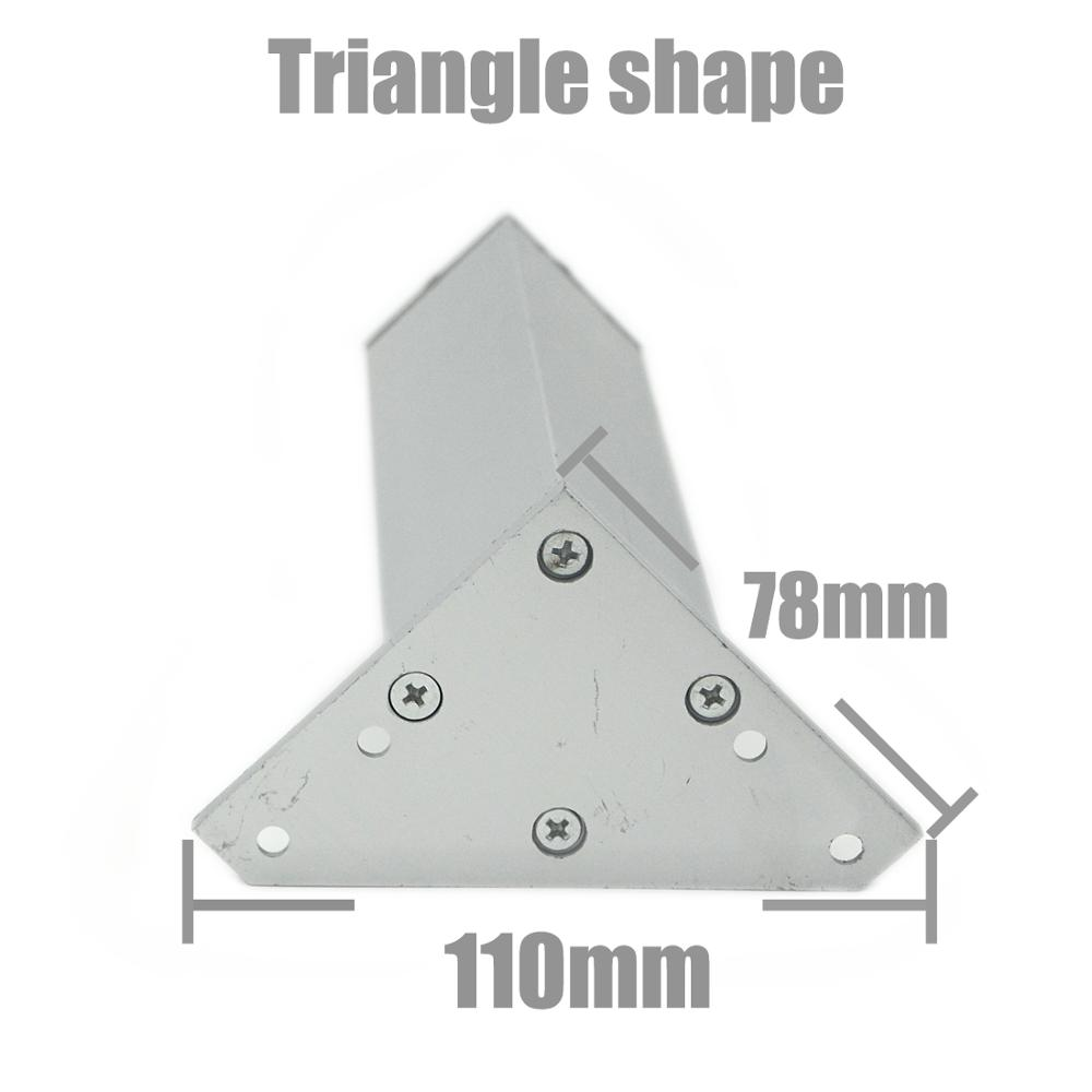4Pcs/Set 6-40cm Aluminum Metal Furniture Legs Cabinet Feet Table Adjustable Triangle Base with Screws For Table Sofa Bed Cabinet