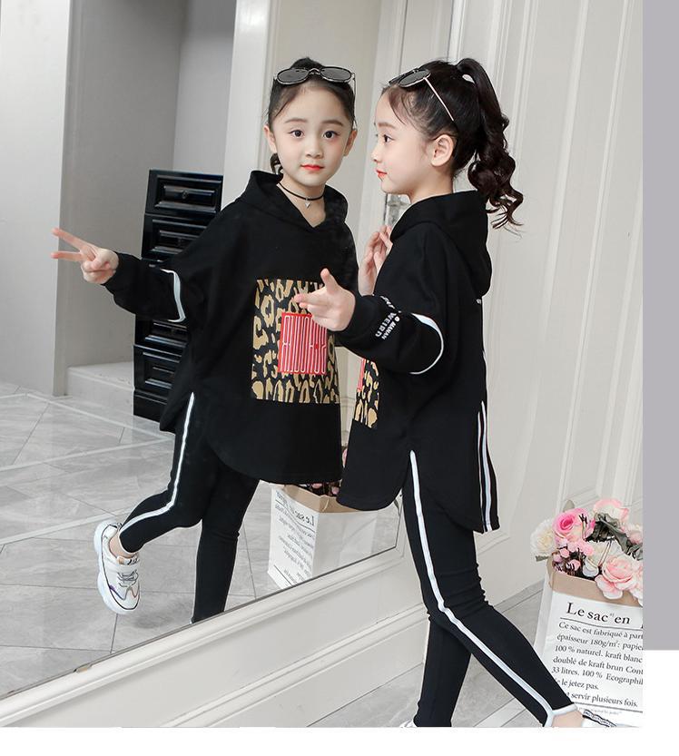 Boutique enfants vêtements automne printemps filles ensemble à manches longues hauts + pantalon 2 pièces survêtement enfants vêtements tenue survêtement - 2