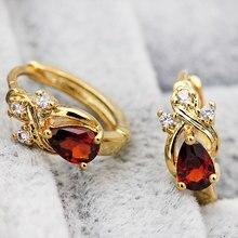 Новые эффектные Роскошные Ювелирные серьги женские модные элегантные серьги-кольца воды циркониевая капля золотые серьги-кольца OBS1911