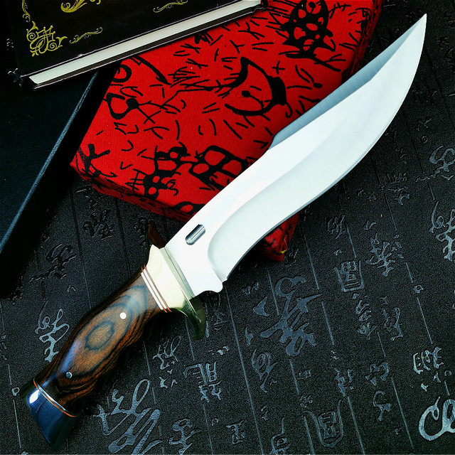 PEGASI  U.S.A(DEHONG )SA78 enhanced hunting straight blade rescue knife camping straight blade Mirror light  tactical knife 4