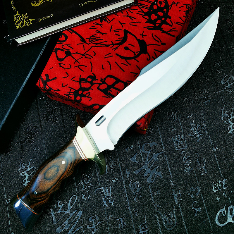 Tools : U S A      DEHONG        SA78 high-end enhanced hunting straight blade rescue knife camping straight blade Mirror light  tactical knife