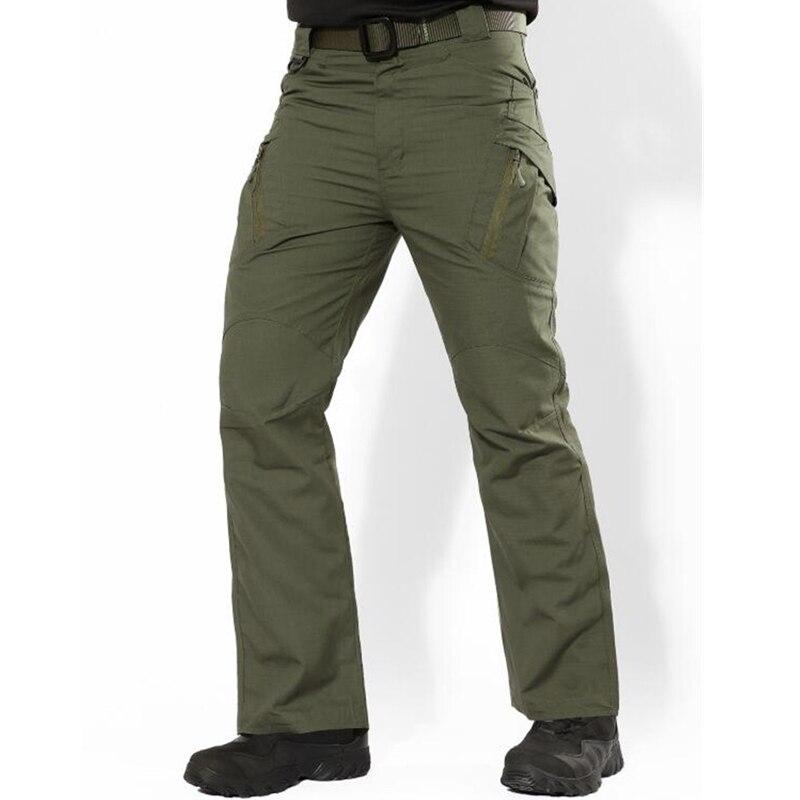 Men''s Jeans Casual Plus Size Cotton Breathable Multi Pocket Military Pant Vogue