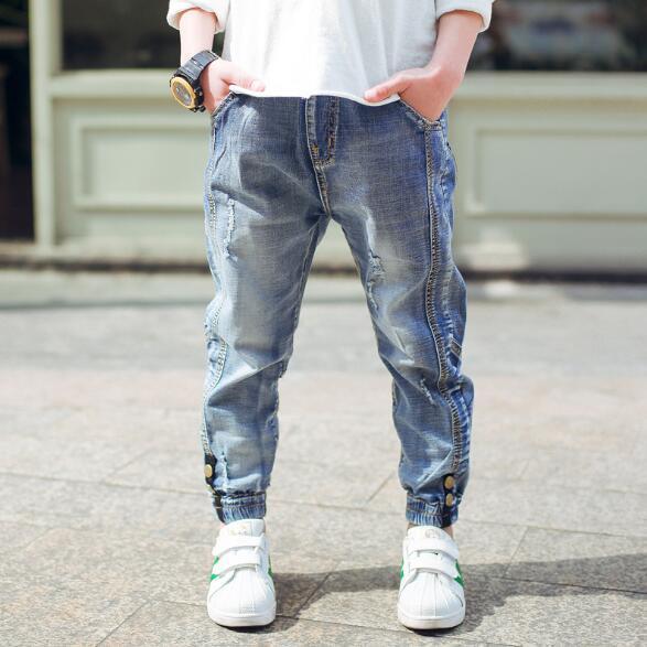 Boys Ripped Denim Jeans