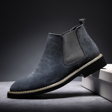 Chelsea Boots Men Ankle Suede Leather Chukka Boots Men Formal Dress Men Shoes Casual Slip Ons Warm Winter Snow Boots Non-slip men casual trend for fashion slip on suede snow warm winter ankle boots shoes