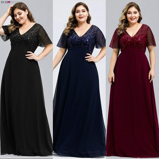 Plusขนาดชุดเจ้าสาวPretty Sequined A Line VคอKurti Elegant Dinner Gowns Vestido Daแม่Da noiva