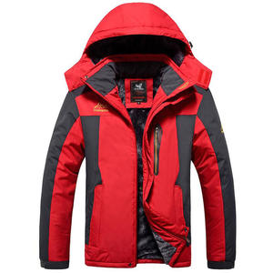 Hooded Jacket Warm-Coats Men Outwear Fleece Thicken Waterproof Outdoors Winter Plus-Size