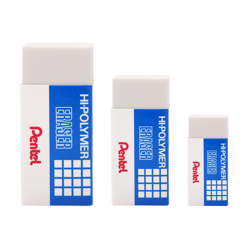 Pentel Erasers ZEH-03N Small Rubber Easy Cleaning Student Erasers Japanese School Stationery