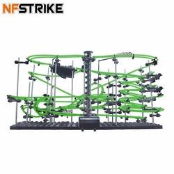 Space Rail Niveau 4 DIY Educatief Speelgoed voor Kinderen Glow In The Dark Roller Coaster Met Stalen Ballen 26000mm model Building Kits