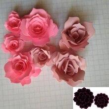 Новый 3d розы рамка Ремесло умирает трафарет металлический высекальный