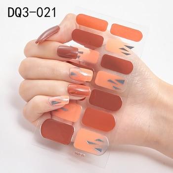 14pcs/sheet Glitter Gradient Color Nail Stickers Nail Wraps Full Cover Nail Polish Sticker DIY Self-Adhesive Nail Art Decoration 122