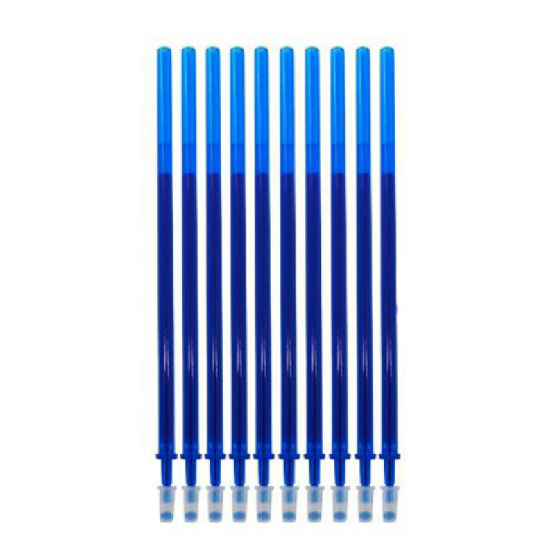 10 Pcs/Set 0.5mm Erasable Pen Refill Blue/Black Magic Ink Refill  Rod Gel Pen For School Office Writing Supplies Tool Gifts