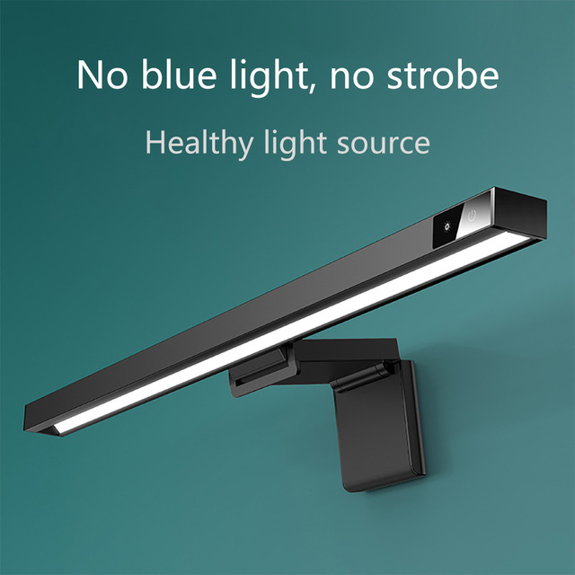 Bar E-Reading LED Task Lamp Computer Screen Light USB Powered Monitor Lamps for Office Home Temperature Reading Light