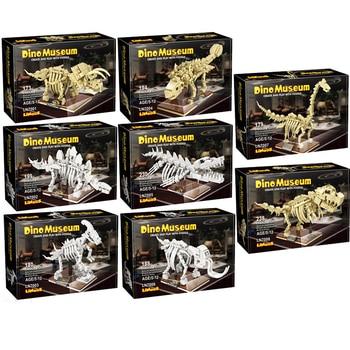 Jurassic Dinosaur World Park Dino Fossil Building Blocks Triceratop T-Rex Indominus Rex Skeleton Bricks Toys For Kid Adult Gifts 1