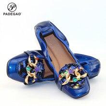 New Women Flats Shoes bowknot Square Toe
