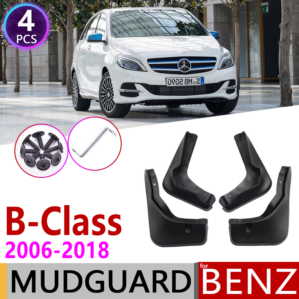 Mudflap for <font><b>Mercedes</b></font> Benz B Class W245 <font><b>W246</b></font> 2006~2018 Fender Mud Guard Flaps Mudguards Accessories 2007 2008 2009 B160 B180 <font><b>B200</b></font> image