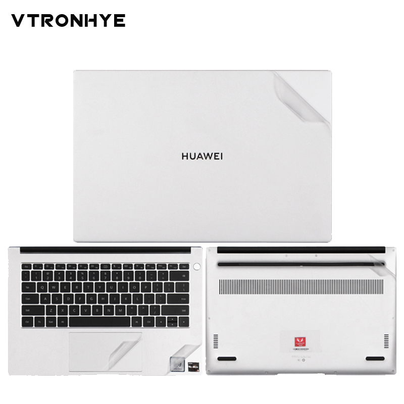 Full Set of PVC Laptop Stickers for Huawei Matebook <font><b>D</b></font> 14/15 <font><b>2019</b></font> MateBook 13 X Pro Anti-Dust/Scratch Vinyl Decal Skin Sticker image