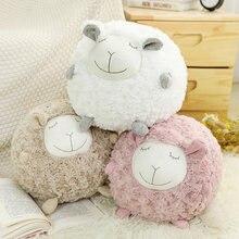 Ins nórdico estilo felpa de lana juguete ovejas muñeca trapo muñeca pareja abrazo ovejas muñeca bebé suave almohada para enviar a ma