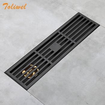 Bathroom Grille Shower Drain Floor Drain Trap Waste Grate Grid Strainer Black