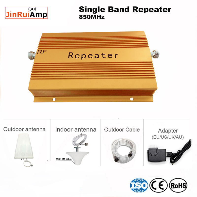 High Gain 75db GSM 850Mhz/ Cdma 850 MHz Signal Booster Repeater+Lpda Antenna Cellular Phone Wifi / Wifi Wireless Coverage:2000m