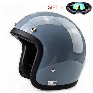 Image 3 - Glass Fiber Vintage Motorcycle Helmet TT&CO 500TX Retro Scooter Jet Open Face Small Shell TTCO Motorbike Riding Capacete Moto