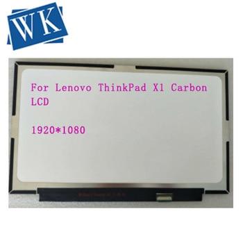 Para Lenovo ThinkPad X1 Carbon 2017 B140HAN03.1 FHD 1920x1080 pantalla LCD Fru 00NY435 30 Pines de repuesto