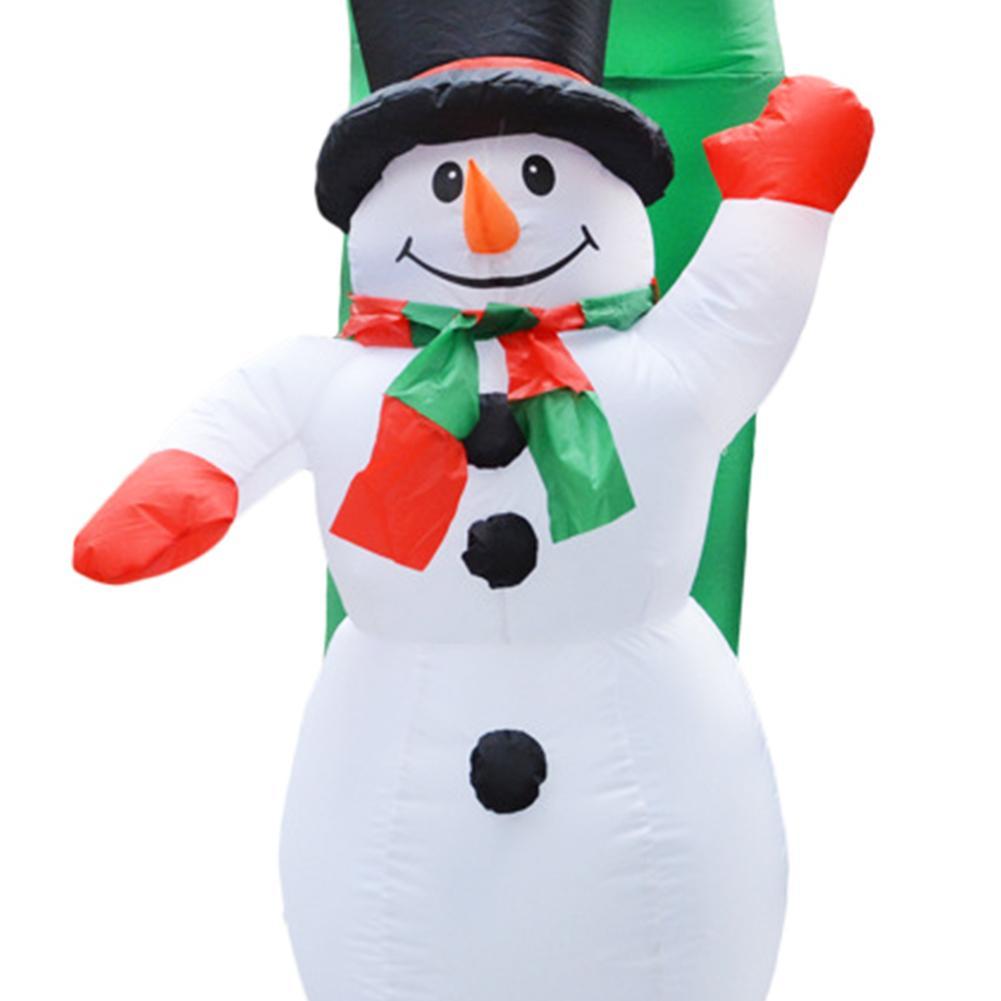 Estilo de natal Arcos de Balão Loja Casa Feliz Decoração de Natal Arco Inflável Papai Noel Xmas Party Ornamento 3D - 5