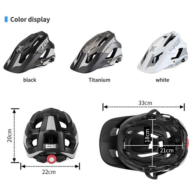 Batfox bicicleta das mulheres dos homens capacete de bicicleta ultra-leve estrada capacete de alta qualidade moldagem geral mtb ciclismo capacete casco 3