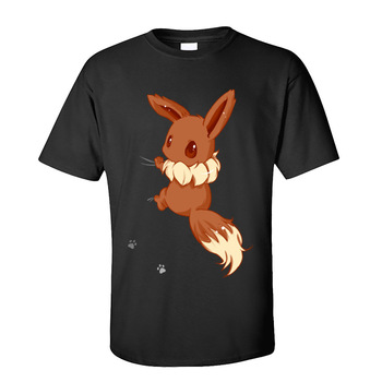 Eevee T-shirts for Men Gengar Summer Fall Tops TShirt Short Sleeve Cute Funny T Shirts O Neck 100% Cotton Streetwear