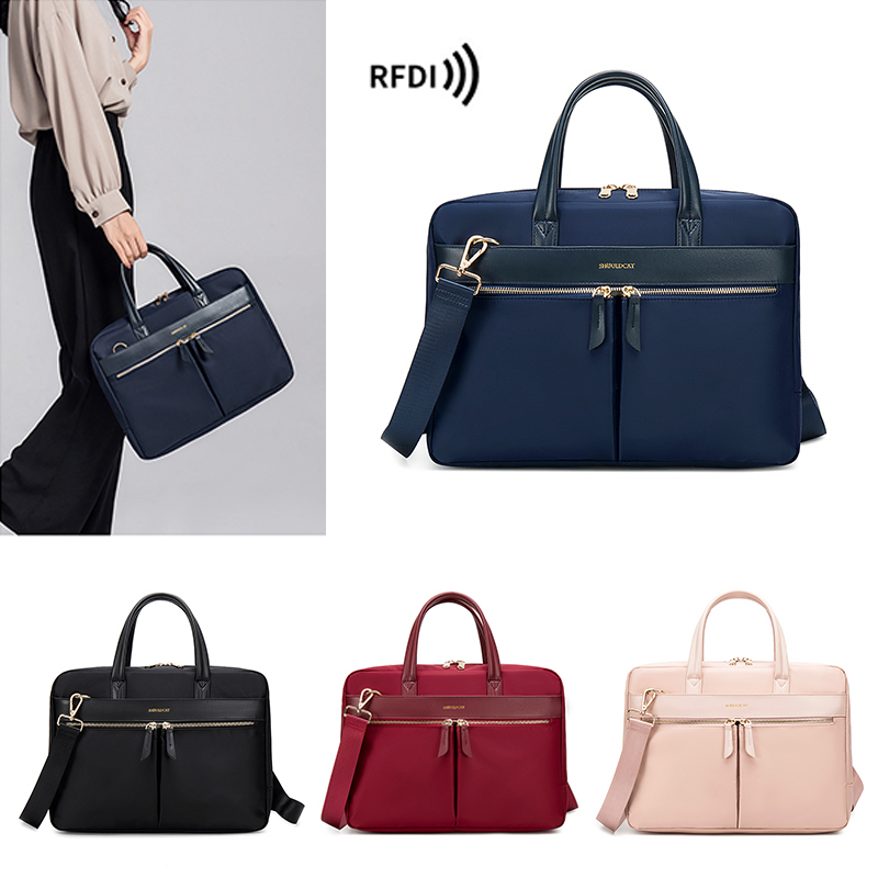 Fashion Women's Notebook Briefcase For 13.3 15 16 Inch Laptop Crossbody Bag Shoulder Bags Business Travel Office Ladies Handbags