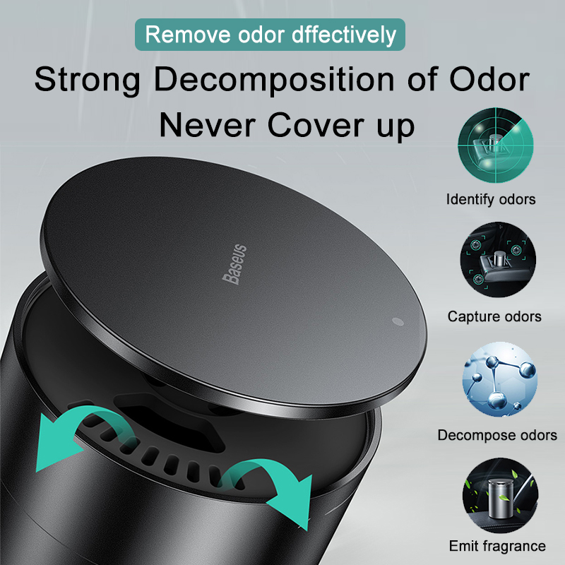 BASEUS Car Air Purifier with Nano Purifying Aroma Diffuser and Negative Ion Generator