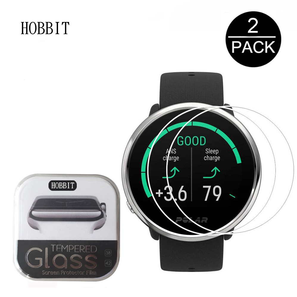 2Pack 9H 2.5D For Polar Ignite Screen Protector Smartwatch Tempered Glass Clear Scratch Proof Explosion-proof Protective Glass