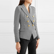 2019 Autumn And Winter New Fashion Women 's Small Suit Jacket , Casual Long Slee