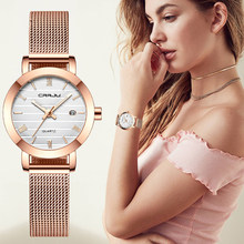 2021 New CRRJU Women for Watch Top Brand Luxury Japan Movement Stylish Rose Gold Ladies watch Date Quartz Wristwatch Girl Clock