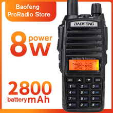 Baofeng UV-82 8W Two-way Radio Dual-hand With Earphone 136-174/400-520 MHz FM CB Ham Walkie Talkie For Adult Outdoor Transceiver