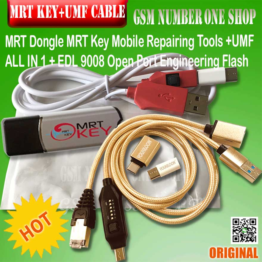 MRT KEY 2  / Mrt Dongle Key  / Mrt Tool + Umf All In I Boot Cable + For Xiaomi EDL 9008 Cable And Miracle Boot Jig