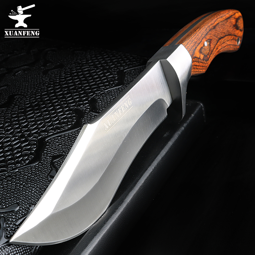 XUAN FENG Outdoor Camping Hunting Knife K30 Survival Pocket Knife Portable Tactical Knife EDC Tool