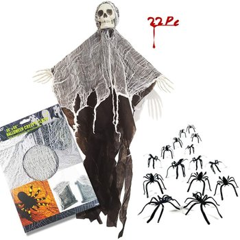 OCDAY Haunted House Hanging Ghost Halloween Decoration Horror Props Creepy Skeleton Hanging Grim Reaper Home Door Bar Decor creepy halloween ghost props electric voice ghost doll toys horror halloween haunted house decoration party suppies kids gift