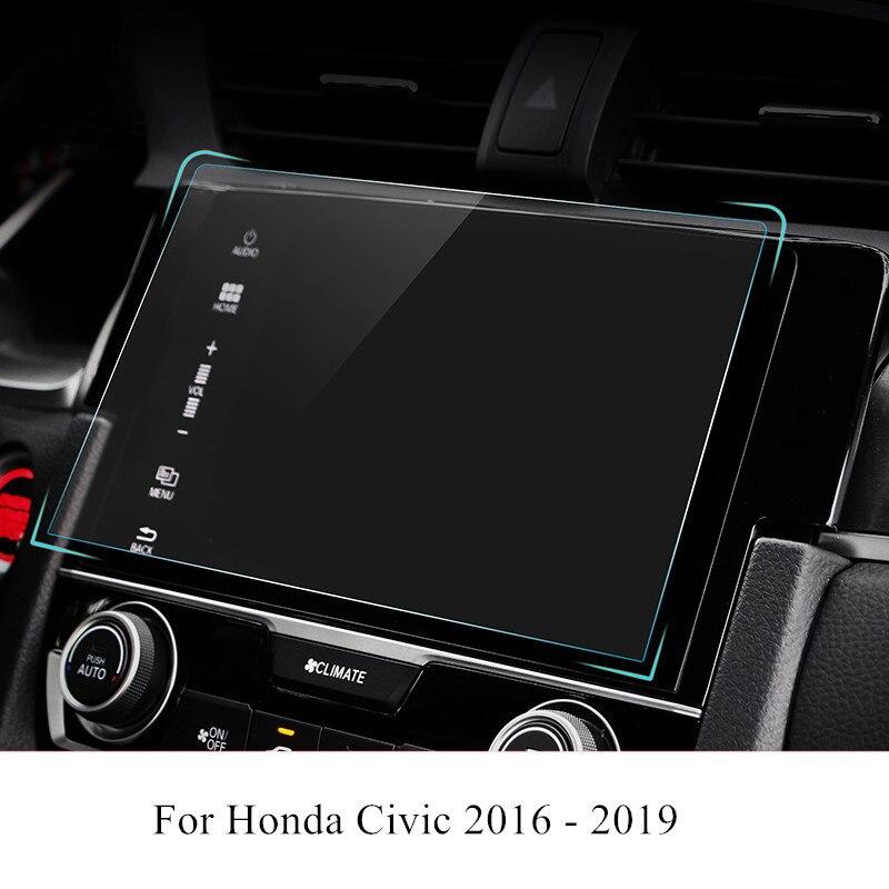 PET Car Navigation Screen Protector Film GPS HD Anti-scratch Sticker For Honda Civic 2016 2017 2018 2019