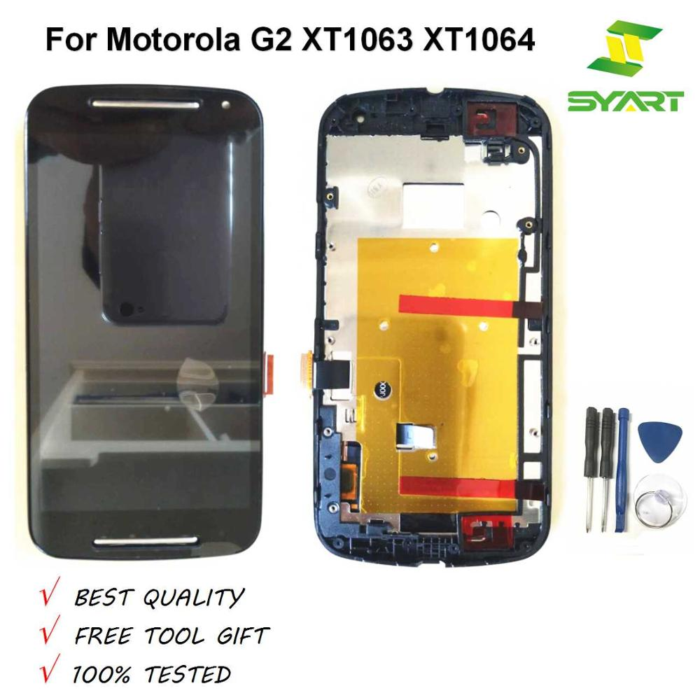 Grade AAA LCD For Moto G2 LCD <font><b>Display</b></font> With Touch Screen Digitizer Assembly With Frame For <font><b>Motorola</b></font> Moto G2 XT1063 XT1064 <font><b>XT1068</b></font> image