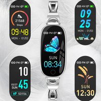 F18 Smart Watch Waterproof Sports Heart Rate Sleep Monitoring Step physiological monitoring Female Physiological Reminder