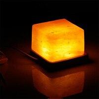 Himalayan Rose Salt Night Light LED Bedside Lamp Creative Lampara Purify air Home Indoor Office Creative Lighting Home Decor