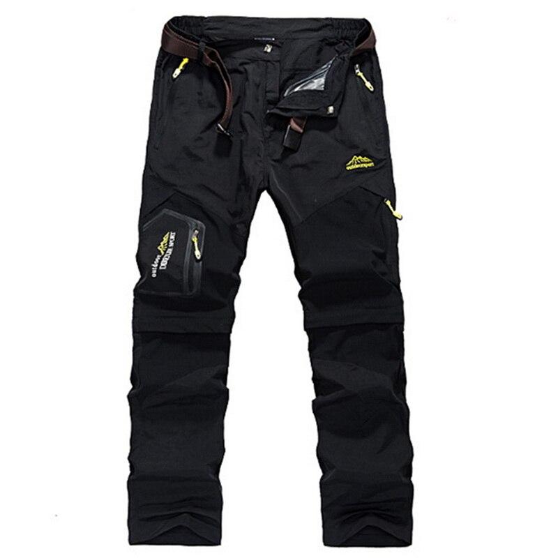 MONERFFI Men Stretch Waterproof Camping Hiking Pants Outdoor Sport Trousers Trekking Mountain Climbing Fishing Plue Size 6XL