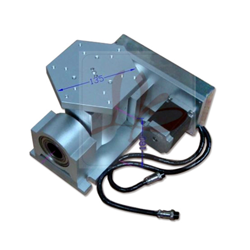 CNC 5 Axis B Axis Rotary Axis T Chuck Type For Cnc Router Milling Machine