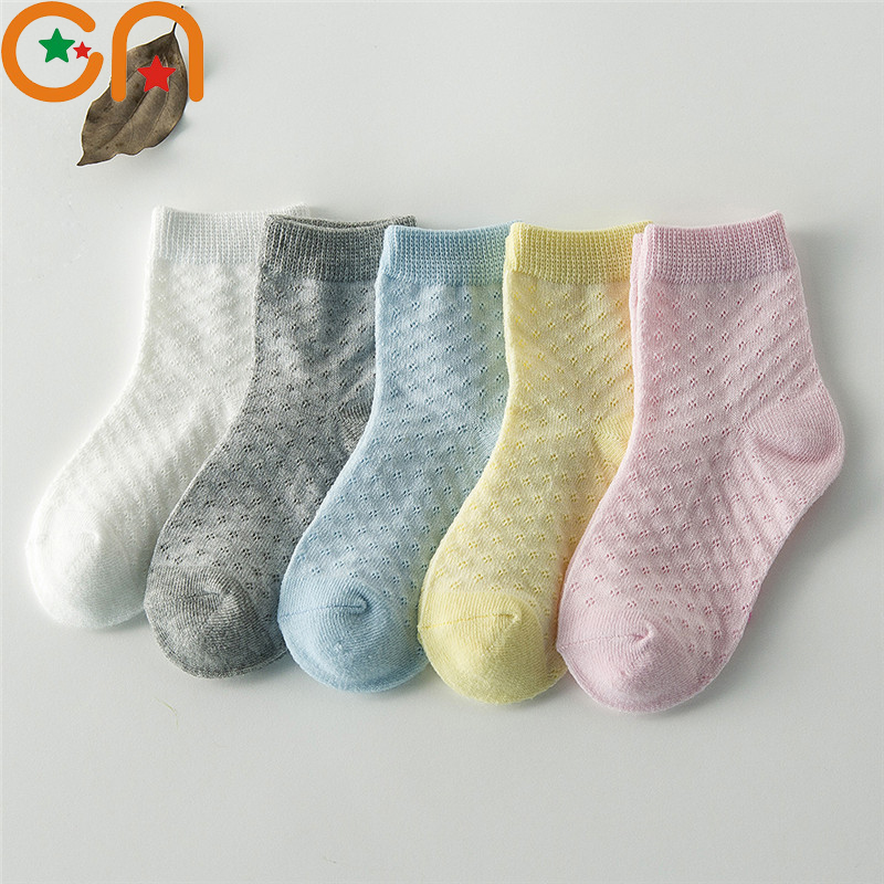 Top SaleCN Kids Socks. Mesh Girl Cotton 1-12-Years Summer Fashion Spring Boy 5-Pairs/Lot Gifts