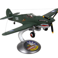 American 1/32 scale WWII Navy Army USA P 40 Flying Tiger Diecast Alloy airplane model adult toy display military Plane collectio