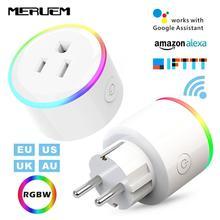 UK/US/EU/AU 10A 16A RGB Smart Home Casa Plug Monitor WIFI Senza Fili Presa di Controllo Vocale Supporto Google Casa,IFTTT