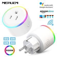 UK/US/EU/AU 10A 16A RGB Smart Home, Casa Intelligente Casa Plug Monitor WIFI Senza Fili Presa di Controllo vocale Presa Supporto Google Casa, IFTTT