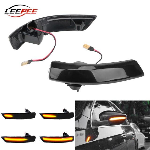 12V 깜박이는 LED 자동차 방향 지시등 리어 뷰 미러 램프 깜빡이 포드 포커스 Mk2 Mk3 Mondeo Mk4 용 동적 자동차 액세서리