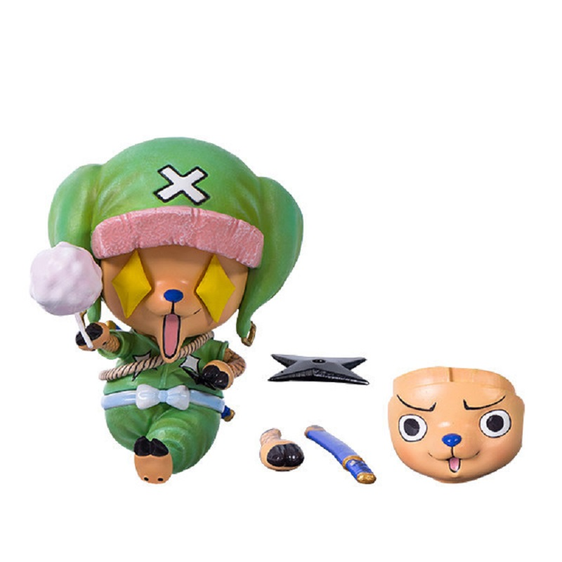 Anime Figure ONE PIECE Tony Tony Chopper Face Changeable Cute Action Figure Toys Model Decoration Kawaii Xmas Gifts for Kids B19