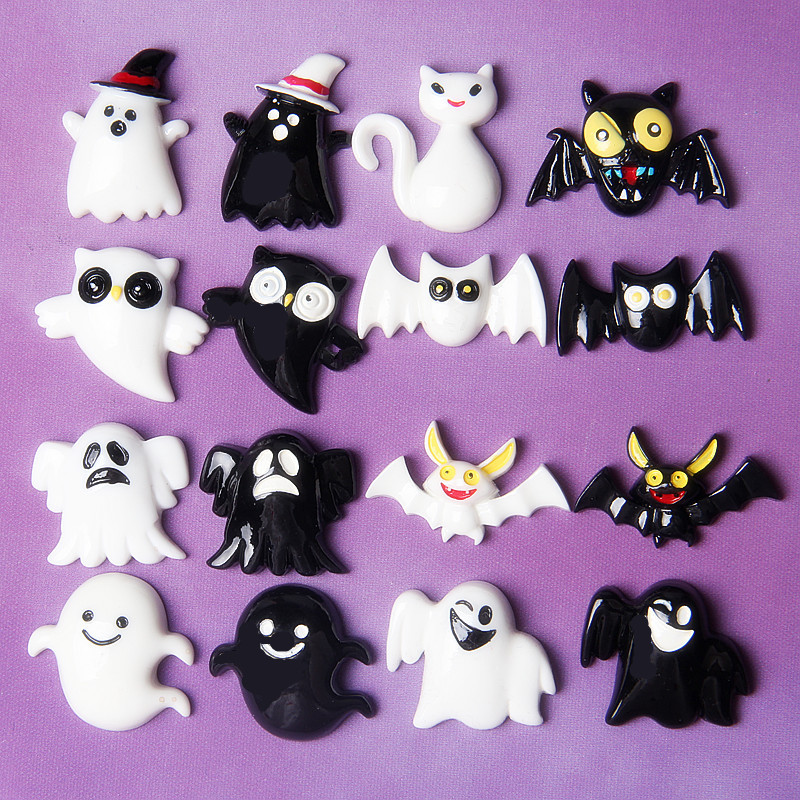 Happy Monkey 10pcs Slime Charms Supplies New Cute Additives DIY Kit Decor Filler For Fluffy Clear Crunchy Slime For Halloween